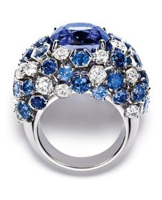 CHAUMET A sapphire and diamond ring from Chaumet's new 'Bee My Love' collection. by maque