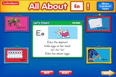 Letter of the Day App-Kids explore the whole alphabet—from every angle! Animated lessons cover letter formation, letter sounds and more. For ages 4-6 years.