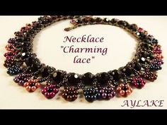 "Simple beaded necklace ""Charming lace!"" - YouTube"
