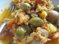 Bacalao, a Mexican Christmastime stew of salt cod, green olives, tomatoes, chiles and onions