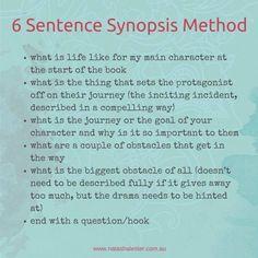 6 Sentence Synopsis Method