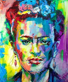 Frida Kahlo Frida Kahlo by Jos Coufreur. Paintings for Sale. Frida Paintings, Paintings For Sale, Abstract Portrait, Portrait Art, Modern Art Prints, Fine Art Prints, Latin Decor, Frida Kahlo Portraits, Frida Kahlo Artwork