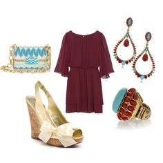 dark red and turquoise!