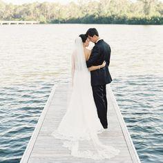 Anna Maier Ulla- Maija Gown from Joan Pillow Bridal Salon // Virgil Bunao Photography // http://www.theknot.com/weddings/album/a-nautical-cheer-wedding-in-st-simons-island-133531