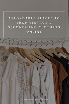 8 Online Thrift Stores For Affordable Vintage Secondhand Clothing Vintage Clothes Shop Second Hand Clothes Affordable Fashion Clothes