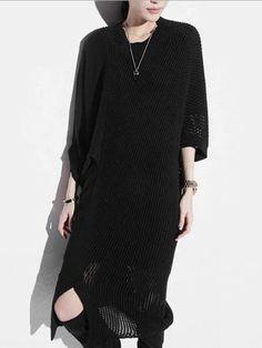 beecac283d CASUAL BATWING SPLIT-SIDE LONG SWEATER – rrdeye Oriental Fashion, Oriental  Style, Long