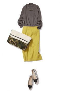 冬の1色投入はマスタードイエローに決まり!レディに艶めく冬の着こなし ― A-ファッションコーディネート通販 ビストロ フラワーズ トウキョウ
