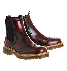 Office Charlie Brogue Chelsea boots Burgundy Leather - Ankle Boots