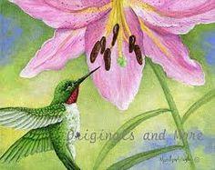 hummingbird acrylic paintings - Google Search