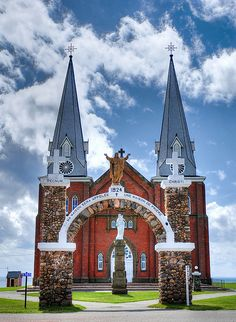 Notre Dame de Mont Carmel (Our Lady of Mount Carmel), Prince Edward Island, Canada. One of the island's oldest churches. Photo by Keith Watson Photography O Canada, Canada Travel, Mont Carmel, Acadie, Lady Of Mount Carmel, Discover Canada, Atlantic Canada, Prince Edward Island, Largest Countries