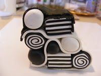 great tutorial how to make a kaleidoscope polymer clay cane.