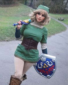 Legend Of Zelda Characters, Female Pose Reference, One Piece Cosplay, Female Poses, Halloween Costumes, Punk, Makeup, Fashion, Comic Con