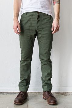 Almond Surf + Craft Made in USA Army Cotton Twill Chino Pants  #mensstyle #lookgood #chinos #ornhansen