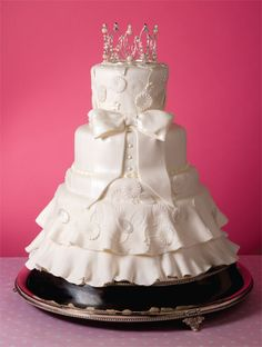 Bridal Dress Cake with crown for shower or bridal luncheon