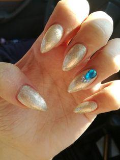 #nail #nailart #nails #goldnails #gold #blue