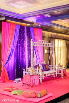 Check out Indian wedding reception couple images and other photos and videos in our gallery. Get inspired for your special day with Maharani Weddings Mehendi Night, Henna Night, Moroccan Theme Party, Moroccan Decor, Indian Baby Showers, Halle, Wedding Mandap, Pakistani Wedding Decor, Bollywood Theme