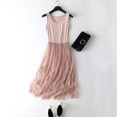 abf74995eb51 Gauze Lace Tank Dress Basic Sundress. Long DressesBall Gown DressesPlus  Size DressesElegant Summer DressesSummer Dresses For WomenSummer MaxiSpring  ...