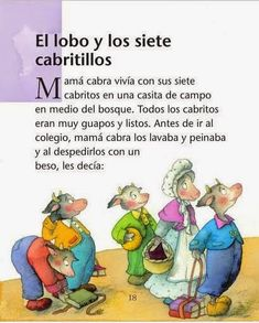 Cuentos infantiles: El lobo y los siete cabritillos. Cuento infantil. Educational Toys For Toddlers, Learning Games For Kids, Cooperative Learning, Spanish Lessons, Learning Spanish, Infant Activities, Activities For Kids, Poetry For Kids, Montessori Toddler