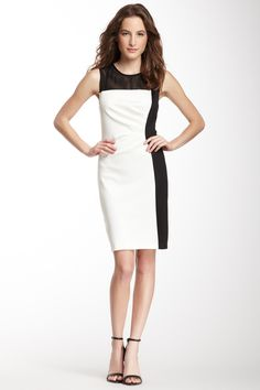 Sandra Darren | Mesh Trim Colorblock Dress | HauteLook $39.97 $89.99  56% Off