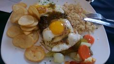 Bife a Portuguesa - Steak and Egg Portuguese Style from Taste Portugal cookbook Veal Recipes, Pot Roast Recipes, Onion Recipes, Cookbook Recipes, Cooking Recipes, Savoury Recipes, Recipes Dinner, Yummy Recipes, Portuguese Steak