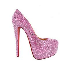 Christian Louboutin replica Crystal Pink Aurora Platform Pumps.Please click picture to buy and get more detail.