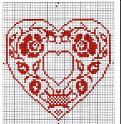 Heart cross stitch with opening which can insert a letter. Just Cross Stitch, Cross Stitch Heart, Cross Stitch Alphabet, Cross Stitch Flowers, Embroidery Hearts, Cross Stitch Embroidery, Embroidery Patterns, Wedding Cross Stitch Patterns, Cross Stitch Designs