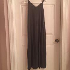 Charcoal gray maxi dress Charcoal gray maxi dress Forever 21 Dresses Maxi