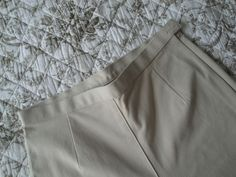 MARKS & SPENCER Made in UK Ladies Casual Stretch Trousers 93% Cotton Stone…