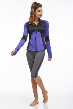 Fit: Semi-Fitted Length: Hip Fabric Content: 92% Polyester/8% Spandex Features: Moisture Wicking, Four-Way Stretch, Cozy Thumbholes, Front Pockets