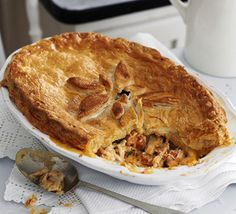 Chicken & chorizo pie: This wholesome pie is perfect weekend fodder. Flavour your Spanish sausage and chicken with sherry, parsley and a hint of cream