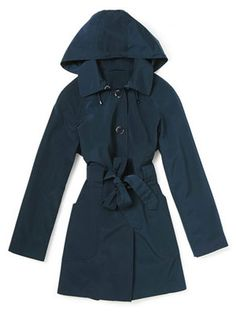 2946da73ea2 Fall showers will roll right off the polyester microfiber in the London Fog  Navy Rain Coat