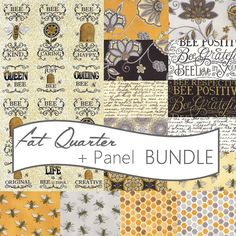 Bee Creative Fat Quarter + Panel Bundle Moda | Fort Worth Fabric Studio