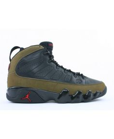online retailer 25885 c13a5 Air Jordan 9 Retro Olive Black Light Olive True Red 302370 031