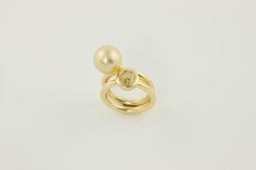 Fancy Yellow Diamond / Golden Pearl Pearl Earrings, Fancy, Pearls, Yellow, Diamond, Jewelry, Ring, Pearl Studs, Jewlery