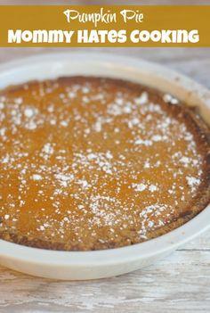 Pumpkin Pie - with graham cracker crust, super easy!