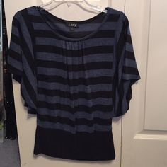 Blue and black dress shirt Casual yet dressy:) also super comfy! Tops Blouses