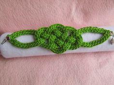 Free Celtic Knot Bracelet pattern by Jennifer Ryan of Celtic Knot Crochet