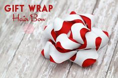 Gift Wrap Hair Bow from Sweet Rose Studio
