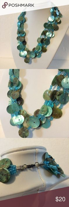 Dazzling Aqua Green Statement Necklace Pretty statement necklace in shades of blue and green Independent Designer Jewelry Necklaces