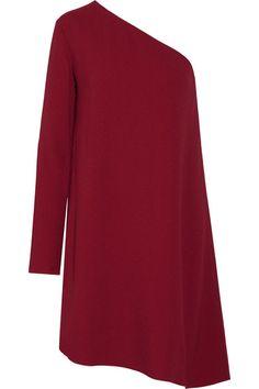 THEORY Sintsi One-Shoulder Crepe Mini Dress. #theory #cloth #dresses