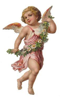 Bild einbinden Angel Victorian die cut-Victorian scrap