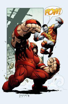 Juggernaut vs Colossus by Derec Donovan