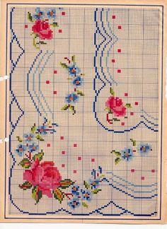 crochet home: December 2013 Cross Stitch Needles, Beaded Cross Stitch, Cross Stitch Rose, Cross Stitch Flowers, Cross Stitch Embroidery, Cross Stitch Boarders, Cross Stitch Charts, Cross Stitch Designs, Cross Stitching