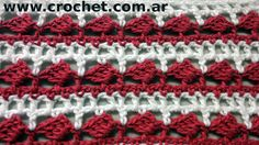 Punto Fantasía N° 25 en tejido crochet tutorial paso a paso.