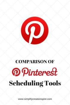 Comparison of Pinterest Scheduling Tools