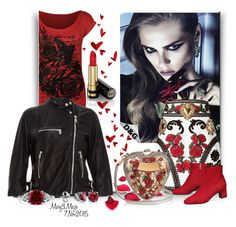 """""""D&G Rose"""" by octobermaze ❤ liked on Polyvore featuring Dolce&Gabbana, WearAll, Gucci, BERRICLE and dolceandgabbana"""