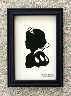 Snow White Handcut Paper Disney Silhouette