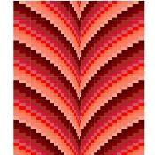 Autumn Points Bargello Pattern - via @Craftsy