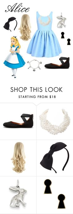 """Alice Disneybound"" by torilovesowls ❤ liked on Polyvore featuring Disney, Gentle Souls, Humble Chic, Kate Spade, Kevin Jewelers, Disney Couture and As Is"