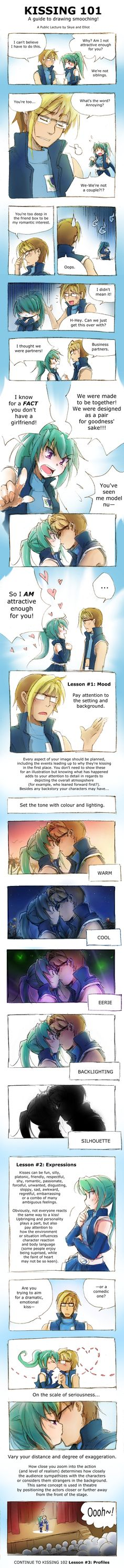 Great explanation about background lighting and drawing.. Kissing 101 by Achiru-et-al.deviantart.com